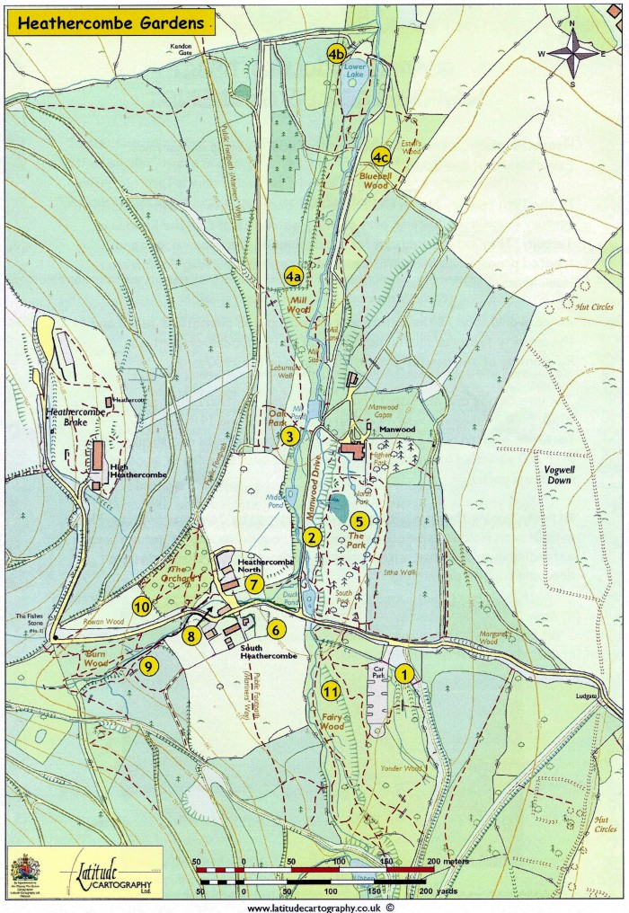 Map of Heathercombe Gardens